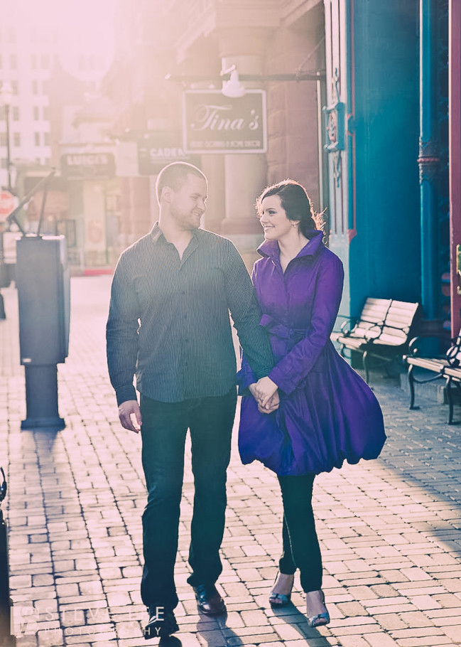 galveston engagement portrait session on the strand by steve lee photography