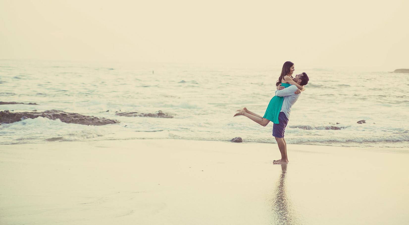 orange county beach engagement portrait by steve lee photography