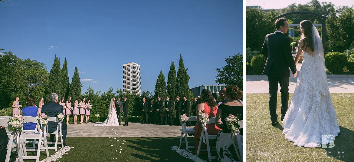 Hartz Houston Wedding At Mcgovern Centennial Garden Celebration Ceremony By Steve Lee Photography